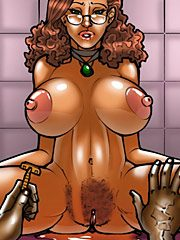 The wife and the black gardeners - Fuck my ass, fuck my pussy by kaos comics
