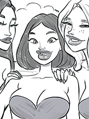 Fresh futanari dolls - Sketch by jab comix